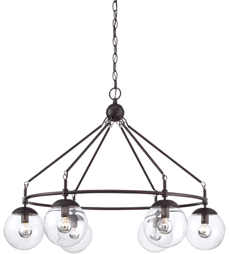 Alden 6 Light Globe Chandeliers Regarding Popular Argo 6 Light 32 Inch English Bronze Chandelier Ceiling Light (View 30 of 30)