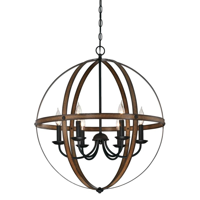Alden 6 Light Globe Chandeliers With Regard To Most Up To Date Joon 6 Light Globe Chandelier (View 16 of 30)