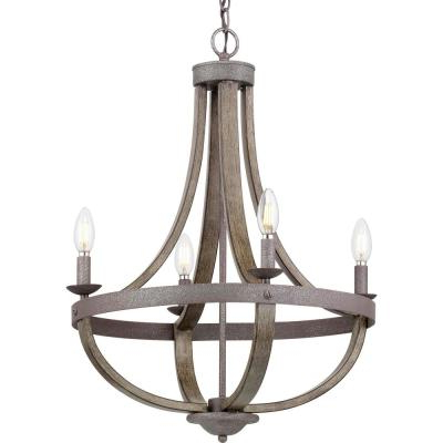 Aldora 4 Light Candle Style Chandeliers In Famous Candle Style – Chandeliers – Lighting – The Home Depot (Gallery 25 of 30)