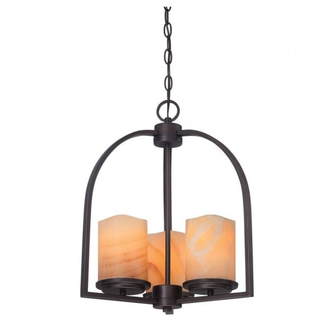 Aldora 4 Light Candle Style Chandeliers With Most Up To Date Aldora Rustic Bronze 3lt Ceiling Pendant With Yellow Onyx Stone Candle Effect Shades (View 14 of 30)