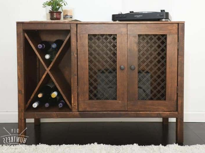 Alegre Sideboards Intended For Well Known Diy Sideboard/record Cabinet With Wine Storage (Free Plans (View 3 of 20)