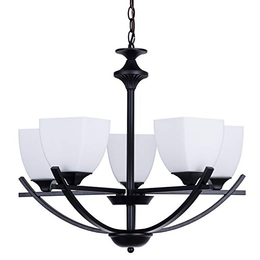 """Alice House 24"""" Dining Room Chandeliers, Black Finish, 5 Light Kitchen Light Fixtures With 72"""" Chain, Farmhouse Lighting Al12077 H5 Pertaining To Newest Emaria 4 Light Unique / Statement Chandeliers (View 12 of 30)"""