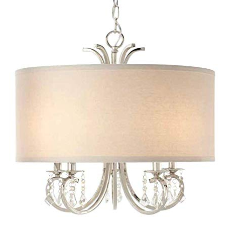 Alina 5 Light Drum Chandeliers Intended For Fashionable Home Decorators Collection 5 Light Polished Nickel Drum Pendant Chandelier With Beads (Gallery 18 of 30)