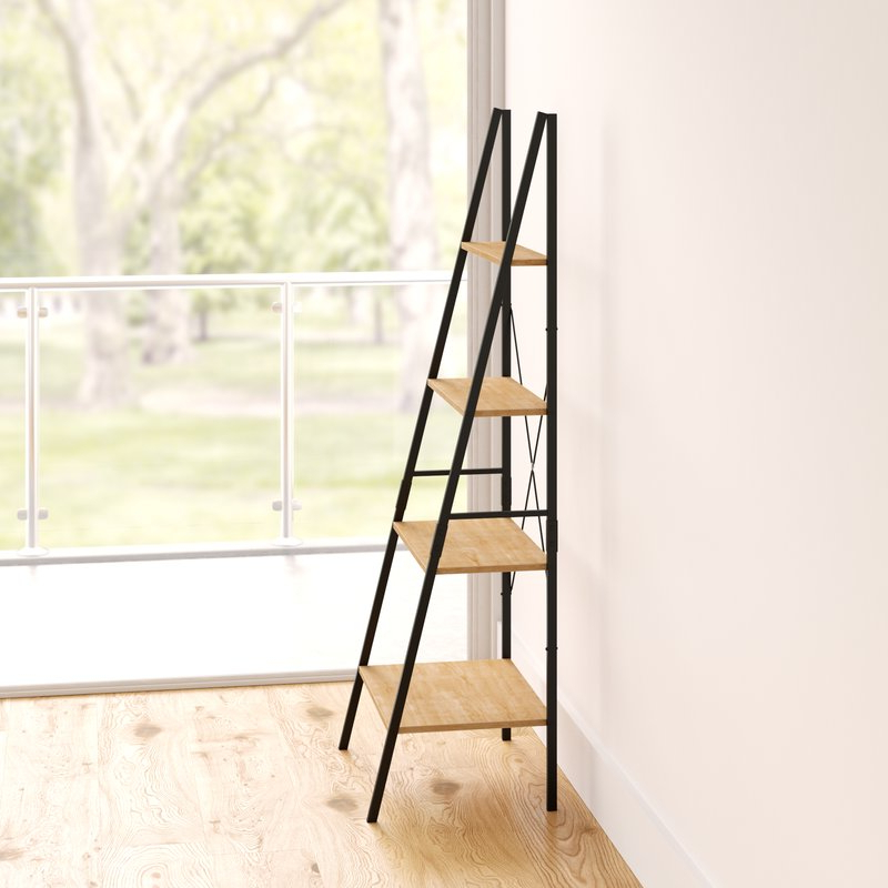 Almanzar Ladder Bookcase Throughout Famous Almanzar Ladder Bookcases (View 3 of 20)