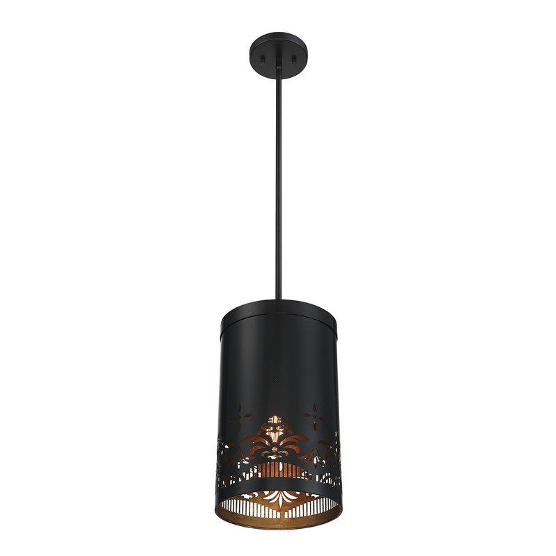 Alvarez 1 Light Mini Pendant In Popular Alverez 4 Light Drum Chandeliers (View 12 of 30)
