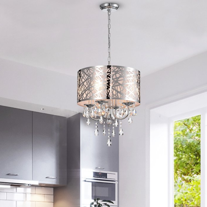 Alverez 4 Light Drum Chandelier Regarding Popular Sinead 4 Light Chandeliers (Gallery 10 of 30)