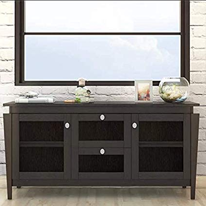 Amazon – Arnwine Brown Finish Sideboard/buffet With 2 With Regard To Current Weinberger Sideboards (View 4 of 20)