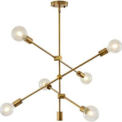 Amazon: Bonlicht Modern Sputnik Chandelier Lighting 6 Throughout Most Up To Date Johanne 6 Light Sputnik Chandeliers (Gallery 22 of 30)