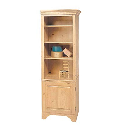 Amazon: Bookcase Unfinished Pine Shaker Kit  (View 1 of 20)