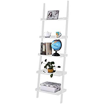 Amazon: Casual Home 176 51 5 Shelf Ladder Bookcase Inside Current Rupert Ladder Bookcases (Gallery 18 of 20)