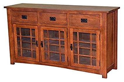 Amazon: Mission Style Solid Oak Tv Stand/craftsman Style With Latest Remington Sideboards (View 2 of 20)