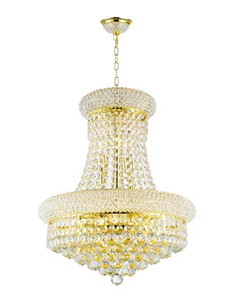 Amazon: Todo El Mundo Iluminación W83030g16 Empire 8 Luz Intended For Well Known Clea 3 Light Crystal Chandeliers (View 13 of 30)