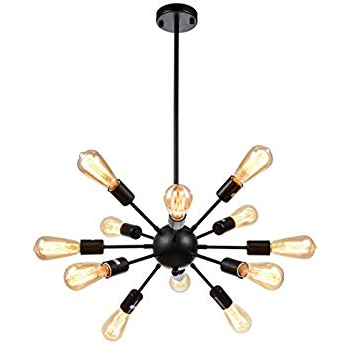 Amazon: Vinluz 12 Light Contemporary Sputnik Chandelier Pertaining To Most Popular Vroman 12 Light Sputnik Chandeliers (View 17 of 30)