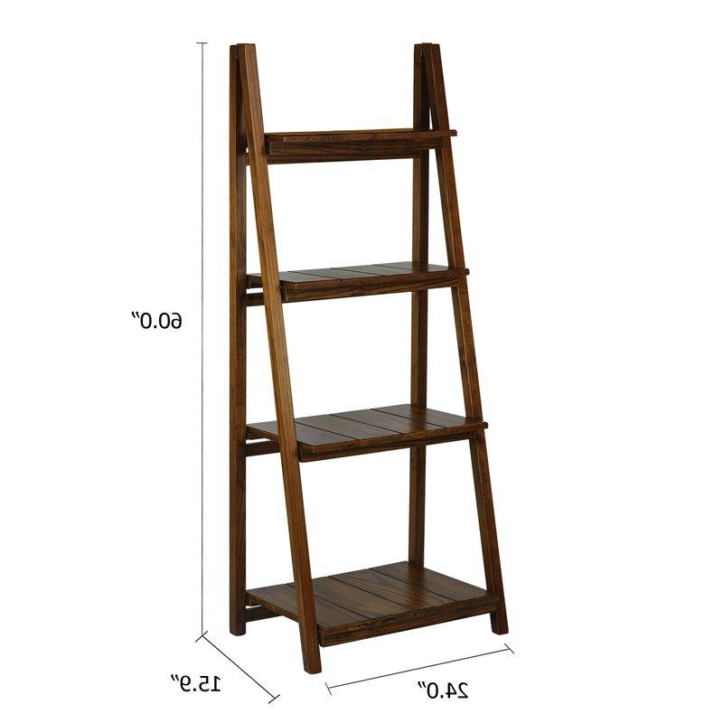 Andover Mills Bordelon Slatted Ladder Bookcase With Regard To Trendy Bordelon Slatted Ladder Bookcases (Gallery 3 of 20)