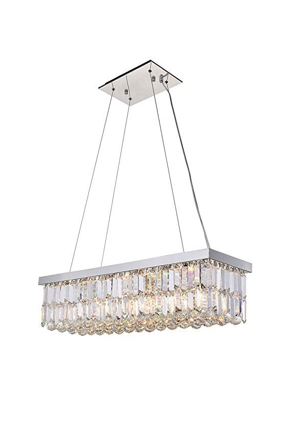Anjiadengshi Modern Traditional Vintage Rectangular Crystal Within Popular Abel 5 Light Drum Chandeliers (Gallery 19 of 30)