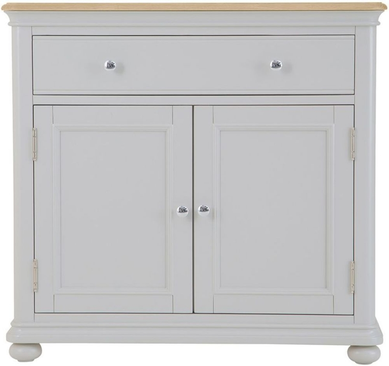 Annecy Small Sideboard – Oak And Soft Grey Painted For Preferred Annecy Sideboards (Gallery 19 of 20)