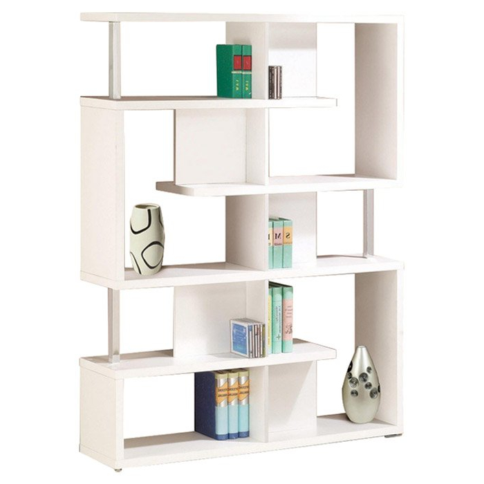 Ansley Geometric Bookcases Intended For Trendy Chantilly Geometric Bookcase (View 19 of 20)