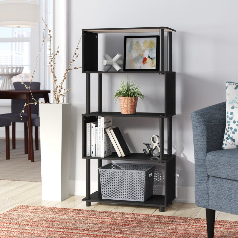 Ansley Geometric Bookcases Regarding Trendy Desirae Geometric Bookcase In (View 16 of 20)