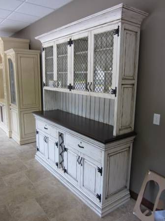 Antique White Hutch, Painted, Glazed, And Distressed Buffet With Regard To Widely Used Cazenovia Charnley Sideboards (View 2 of 20)