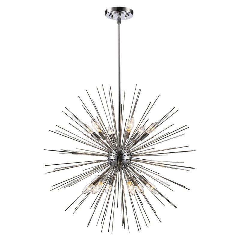 Antonie 12 Light Sputnik Chandelier In Most Up To Date Corona 12 Light Sputnik Chandeliers (Gallery 11 of 30)