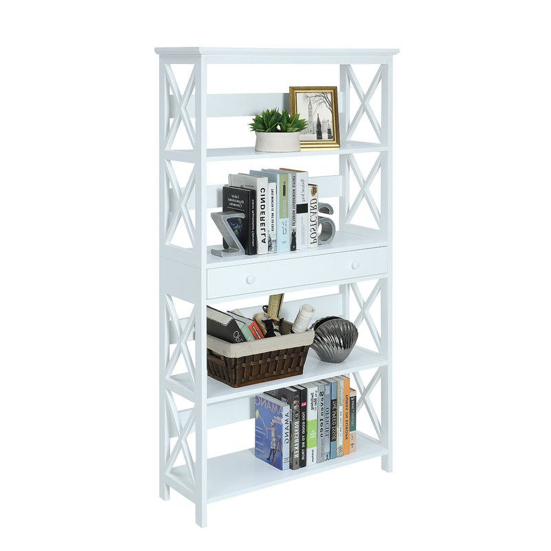 Ardenvor Etagere Standard Bookcases For Favorite Gracelynn 5 Tier Etagere Bookcase (View 2 of 20)