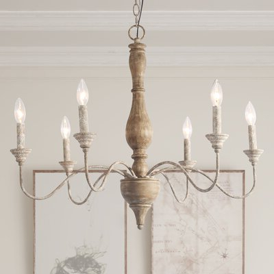 Armande Candle Style Chandeliers For Trendy Ophelia & Co. Tacoma 6 Light Candle Style Chandelier In 2019 (Gallery 7 of 30)