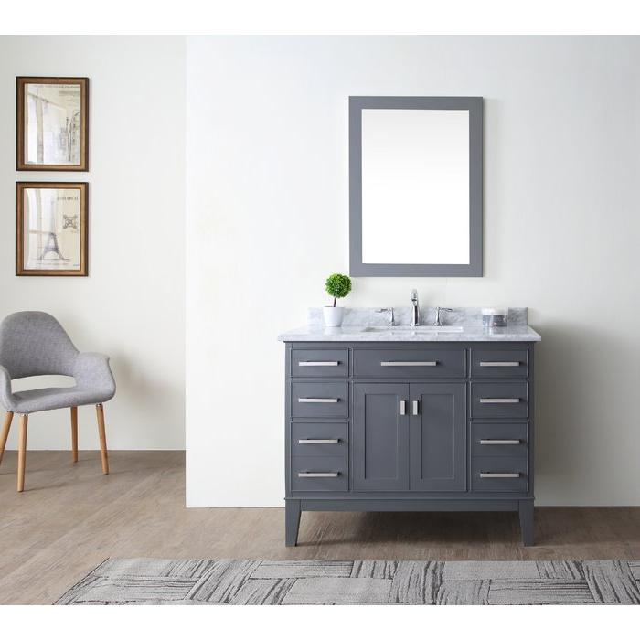 """Arminta 42"""" Single Bathroom Vanity Set In 2020 Arminta Wood Sideboards (View 16 of 20)"""