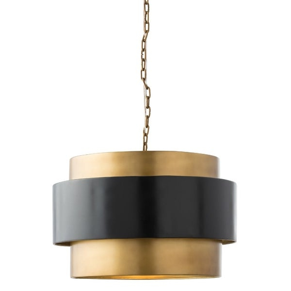 "Arteriors 44077 Nolan 21.5"" Wide Single Light Pendant – Vintage Brass With Best And Newest Nolan 1 Light Lantern Chandeliers (Gallery 21 of 30)"