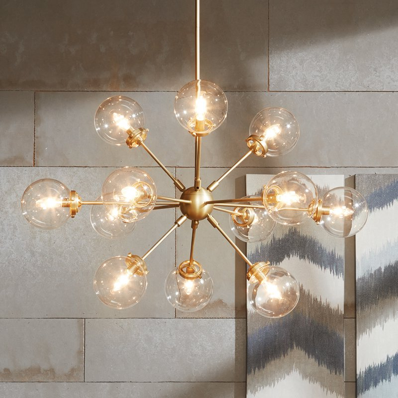 Asher 12 Light Sputnik Chandelier Within Preferred Nelly 12 Light Sputnik Chandeliers (View 5 of 30)
