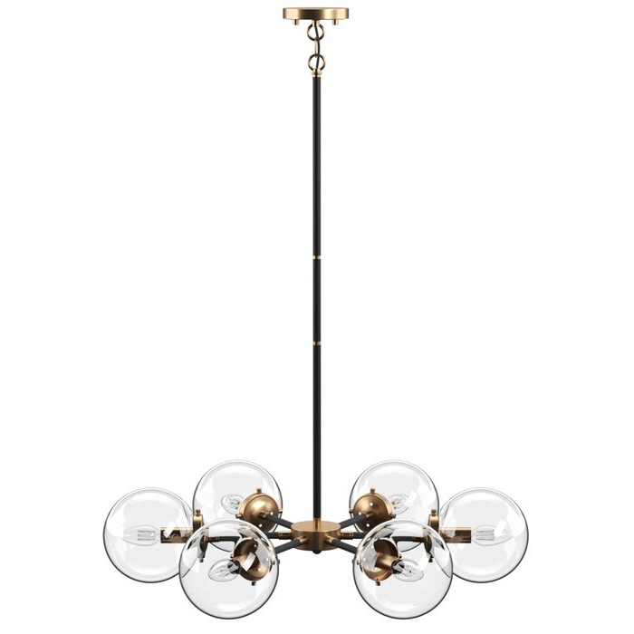 Asher 12 Light Sputnik Chandeliers Pertaining To Trendy Shontelle 6 Light Sputnik Chandelier (View 4 of 30)