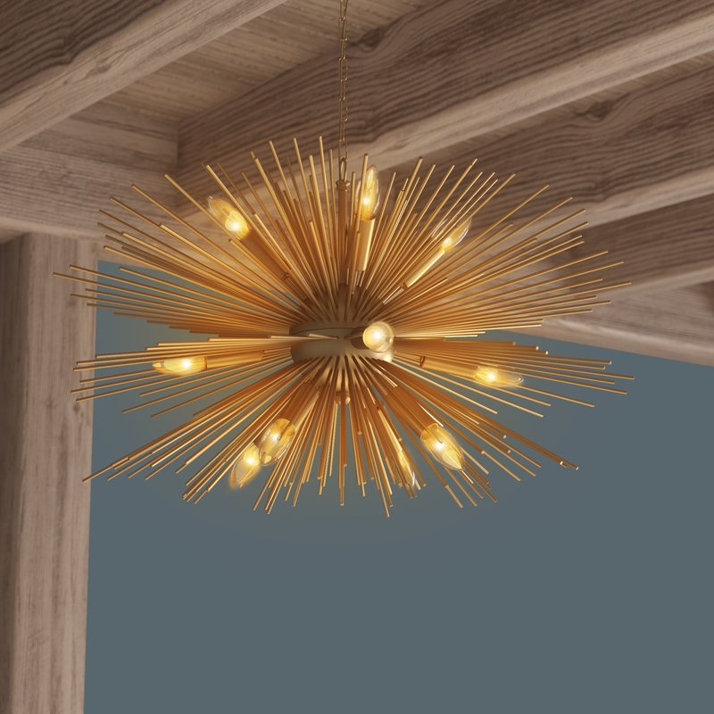 Asher 12 Light Sputnik Chandeliers Throughout Preferred Nelly 12 Light Sputnik Chandelier (Gallery 18 of 30)