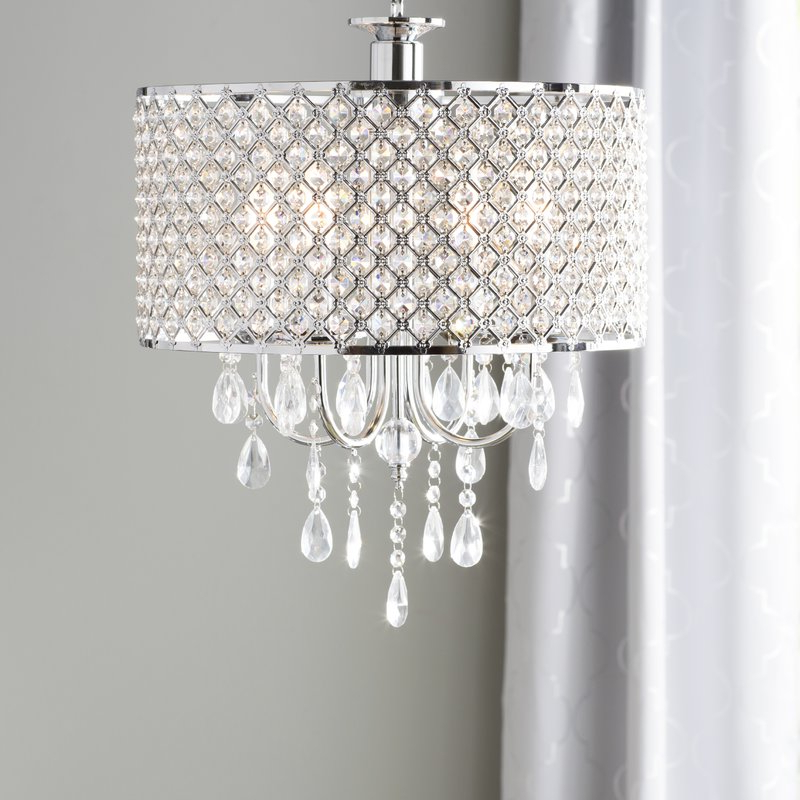 Aurore 4 Light Crystal Chandelier For Most Popular Sinead 4 Light Chandeliers (Gallery 6 of 30)