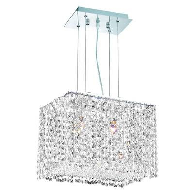 Aurore 4 Light Crystal Chandelier In  (View 5 of 30)