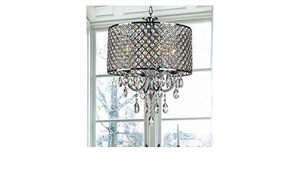 Aurore 4 Light Crystal Chandeliers With 2020 Fabulous Aurore 4  Light Led Drum Chandelier, Plastic (View 9 of 30)