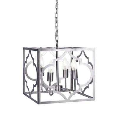 Avalyn Foyer 4 Light Square/rectangle Chandelier In 2019 For Well Known Morganti 4 Light Chandeliers (View 20 of 30)