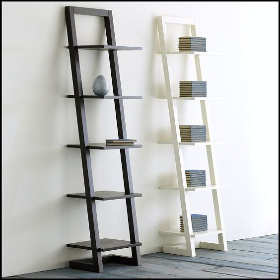 Averett Ladder Bookcases Within Latest Furniture:ikea White Ladder Shelf Ikea White Ladder Shelf (View 6 of 20)