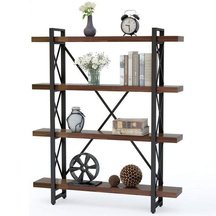 Babbitt Etagere Bookcase Intended For Widely Used Cifuentes Dual Etagere Bookcases (Gallery 15 of 20)