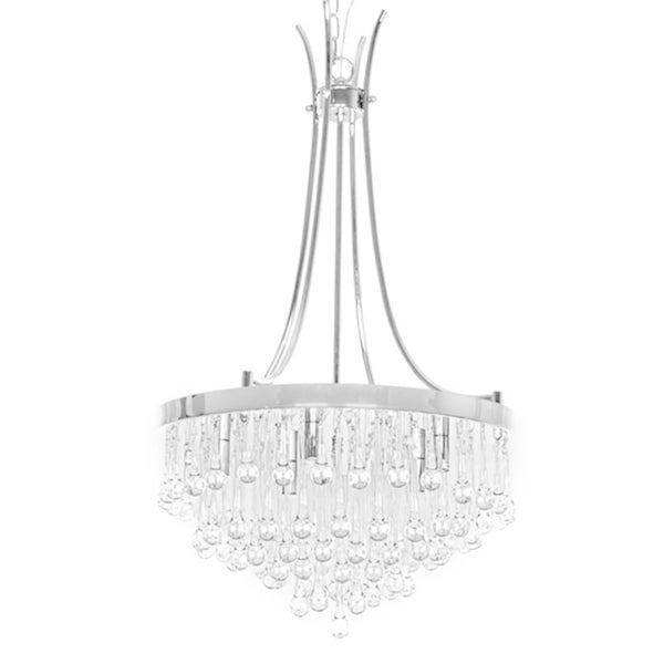 Bacchus 12 Light Sputnik Chandeliers Within Favorite Shop Adorea 5 Light Crystal Chandelier – Free Shipping Today (View 22 of 30)