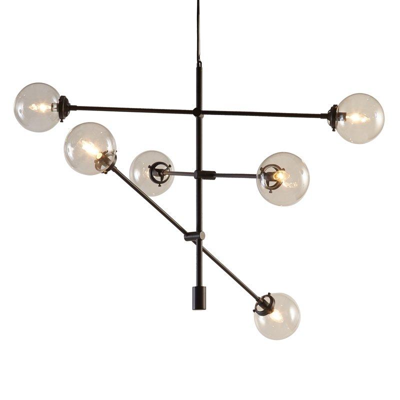 Bailey Antique 6 Light Sputnik Chandelier For Well Known Eladia 6 Light Sputnik Chandeliers (Gallery 8 of 30)
