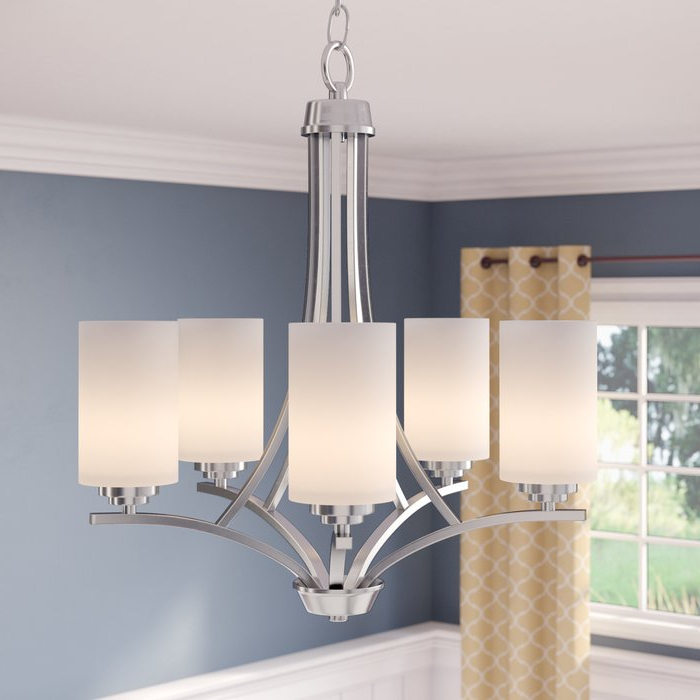 Bainsby 5 Light Shaded Chandelier For Favorite Newent 5 Light Shaded Chandeliers (Gallery 8 of 30)