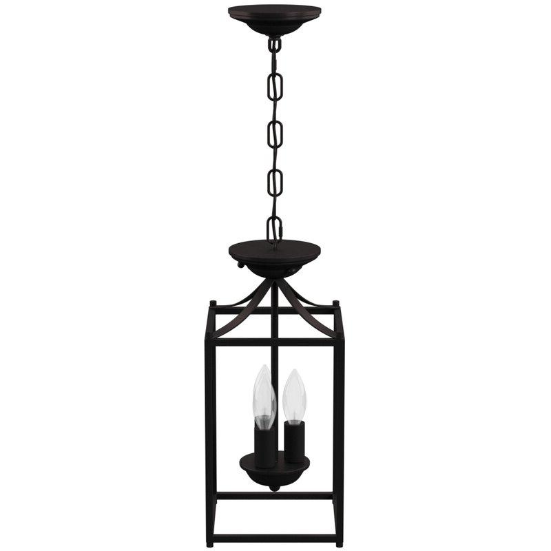 Barryton 3 Light Lantern Square Pendant Within Most Popular Leiters 3 Light Lantern Geometric Pendants (View 25 of 30)