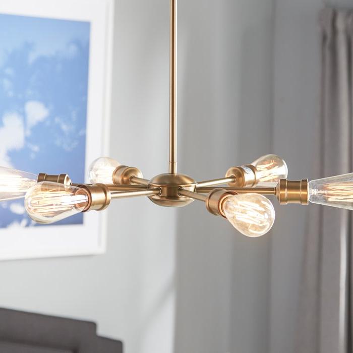 Bautista 5 Light Sputnik Chandeliers Inside Fashionable Bautista 6 Light Sputnik Chandelier (Gallery 9 of 30)