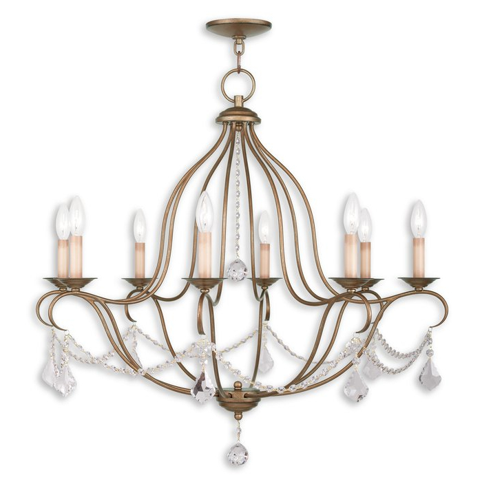 Bayfront 8 Light Candle Style Chandelier For Current Diaz 6 Light Candle Style Chandeliers (Gallery 23 of 30)