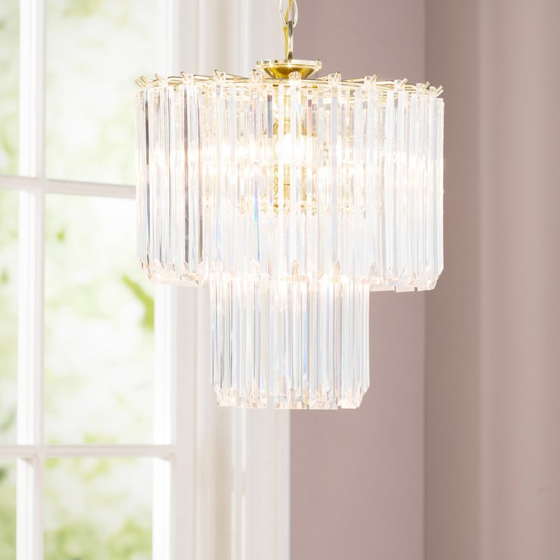 Benedetto 5 Light Crystal Chandelier With Regard To 2019 Benedetto 5 Light Crystal Chandeliers (Gallery 1 of 30)