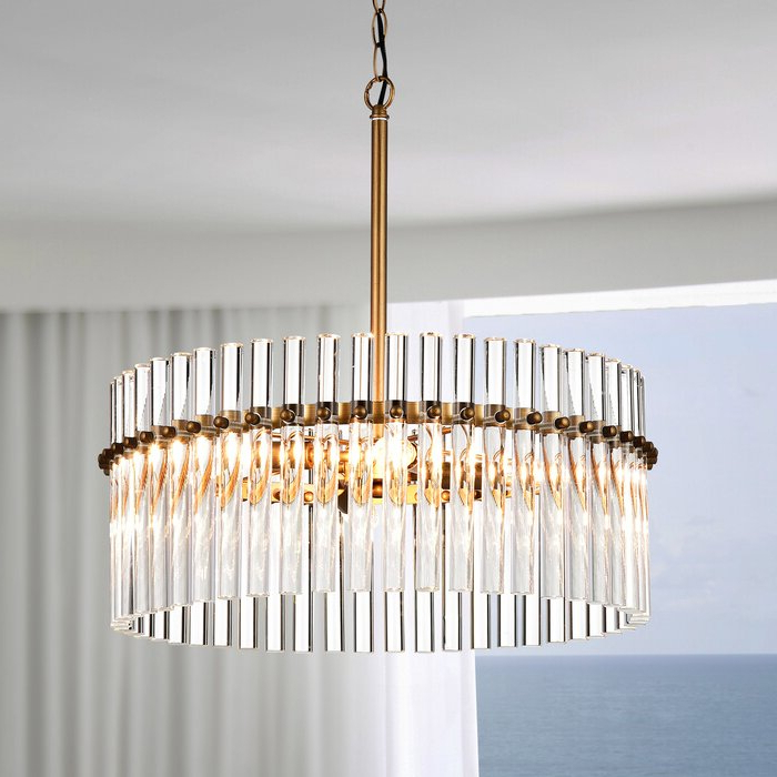 Benedetto 5 Light Crystal Chandeliers With Current Neva 4 Light Crystal Chandelier (View 12 of 30)