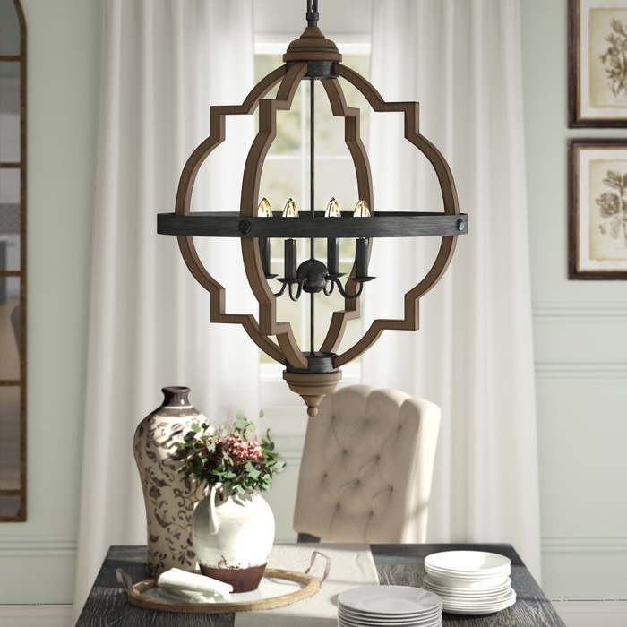 Bennington 4 Light Candle Style Chandelier For Well Known Bennington 6 Light Candle Style Chandeliers (Gallery 6 of 30)
