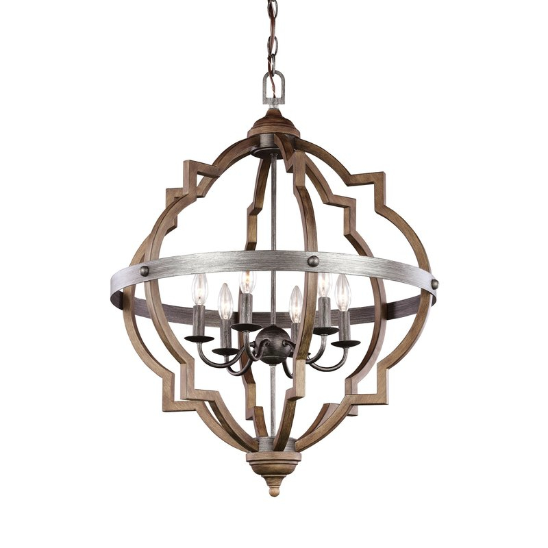 Bennington 6 Light Candle Style Chandelier With Regard To Recent Perseus 6 Light Candle Style Chandeliers (View 15 of 30)