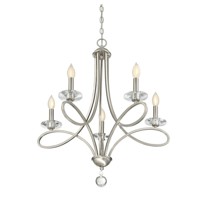 Berger 5 Light Candle Style Chandeliers In Well Known Berger 5 Light Candle Style Chandelier (Gallery 4 of 30)