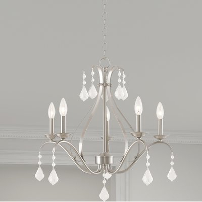 Berger 5 Light Candle Style Chandeliers With Regard To Favorite Aria 5 Light Candle Style Chandelier (View 10 of 30)