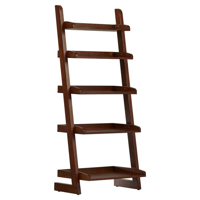 Best And Newest Averett Ladder Bookcases Regarding Silvestri Ladder Bookcase (View 7 of 20)